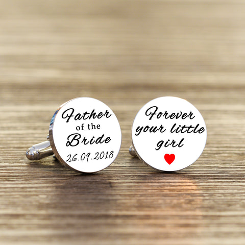 Forever Your Little Girl Cufflinks | ShaneToddGifts.co.uk