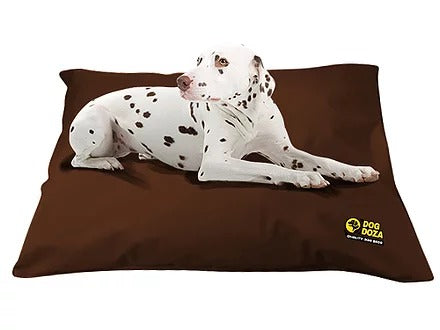 Dog Doza - Waterproof Cushion Beds - Memory Foam Granulated CRUMB - Various Sizes Brown, Dog Beds by Low Cost Gifts