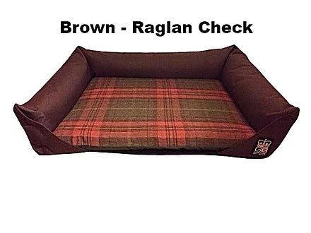 Sofa Bed Waterproof & Fabric - Brown - Raglan Check, Furniture by Low Cost Gifts