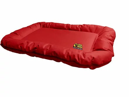 Dog Doza Dog Bolster Mat - Waterproof All Over Heavy Duty Fabric - Red, Dog Supplies by Low Cost Gifts
