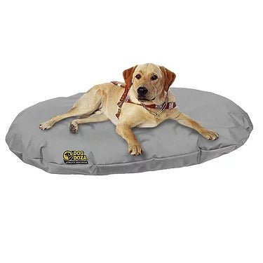 Dog Doza - Waterproof Oval Beds - Memory Foam Granulated CRUMB - Various Sizes Grey, Dog Beds by Low Cost Gifts