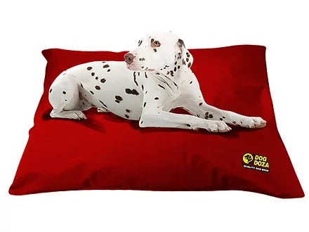 Dog Doza - Waterproof Cushion Beds - Memory Foam Granulated CRUMB - Various Sizes Red, Dog Beds by Low Cost Gifts