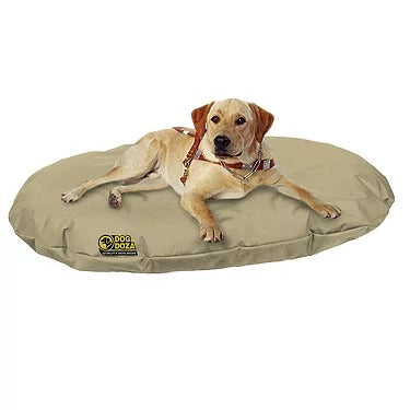 Dog Doza - Waterproof Oval Beds - Memory Foam Granulated CRUMB - Various Sizes Beige, Dog Supplies by Low Cost Gifts
