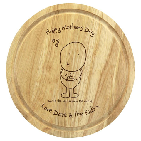 Chilli & Bubble's Mothers Day round chopping board