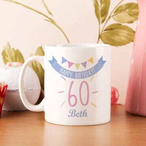 60th Birthday Bunting Mug For Her