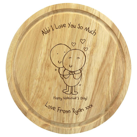 Chilli & Bubbles Valentines round 30cms chopping board