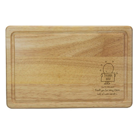 Chilli & Bubble's Thank You Rectangle Wooden Chopping Board