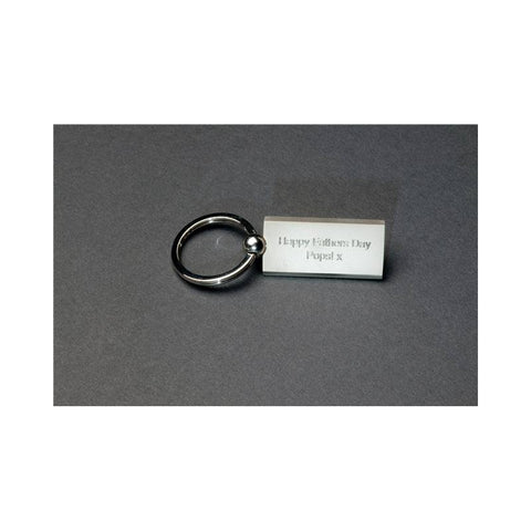 Personalised Matt Rectangular Keyring