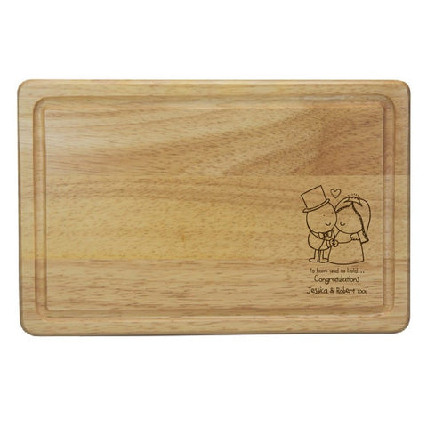 Chilli & Bubble's To Have & To Hold Rectangle Wooden Chopping Board