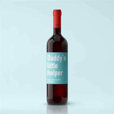 Personalised Daddy's Little Helper Premium Red Wine