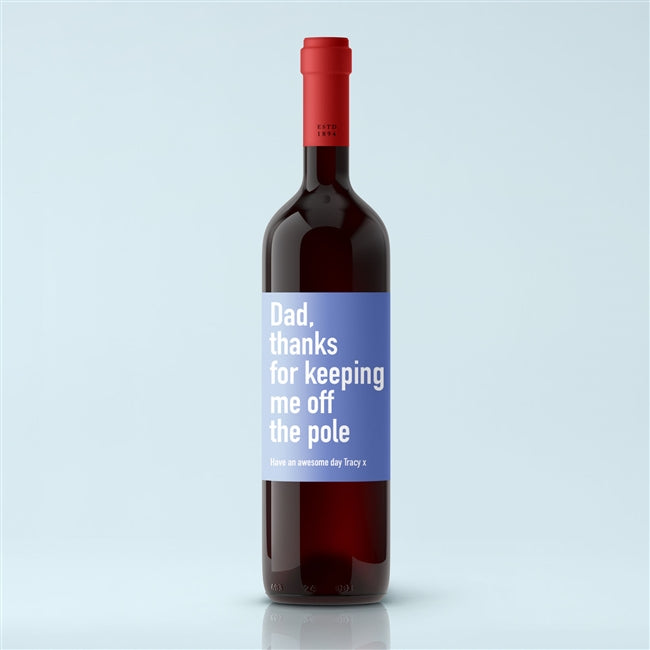 Personalised Naughty Label Premium Red Wine