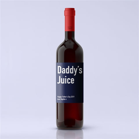 Personalised Daddy's Juice Premium Red Wine