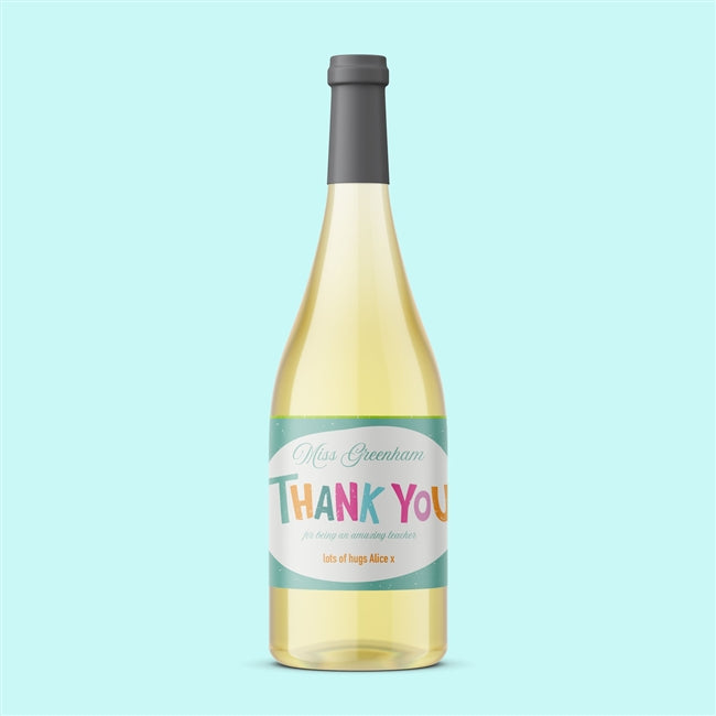 Thank You Teacher Pinot Grigio White Wine, Food, Beverages & Tobacco by Low Cost Gifts