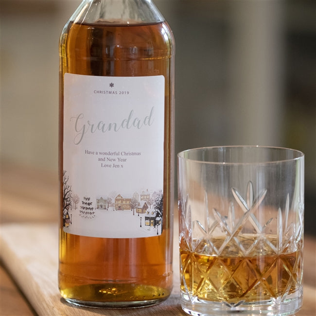 Personalised Snow Scene Whisky, Whisky by Low Cost Gifts