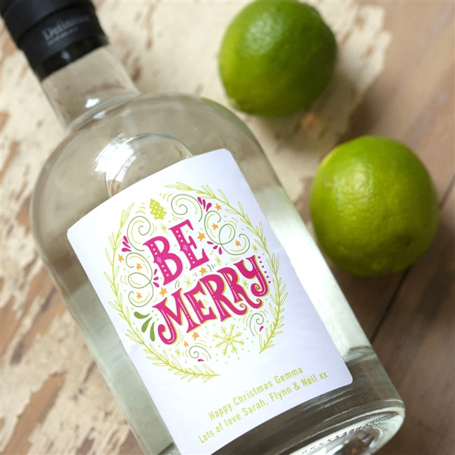 Personalised Be Merry Gin, Gin - Image 0