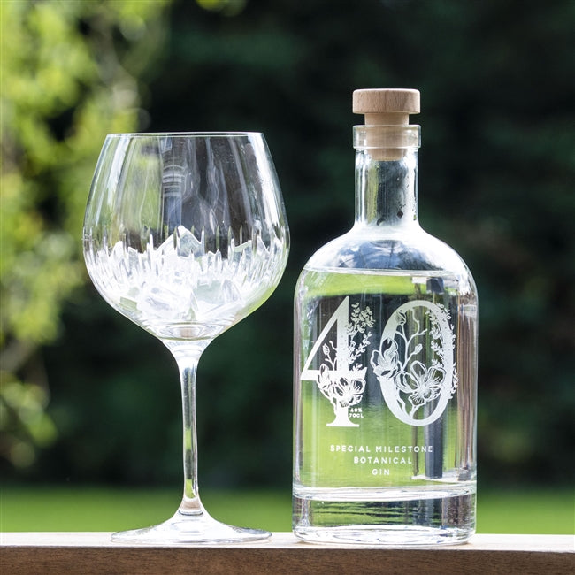 Premium Engraved Special Milestone Botanical Gin, Food, Beverages & Tobacco by Low Cost Gifts