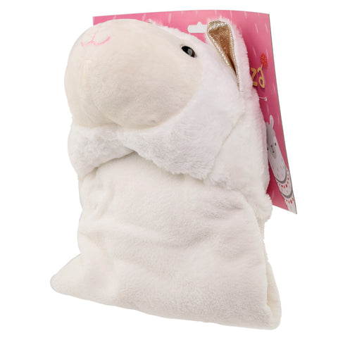 Plush White Llamapalooza Wearable Blanket