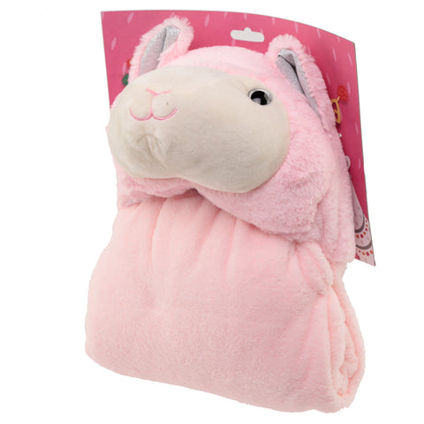 Plush Pink Llamapalooza Wearable Blanket