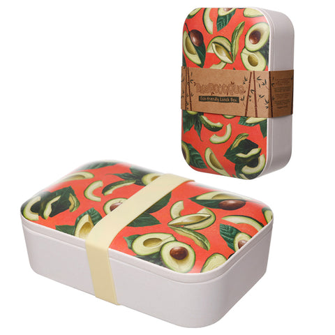 Bamboo Eco Friendly Avocado Design Lunch Box