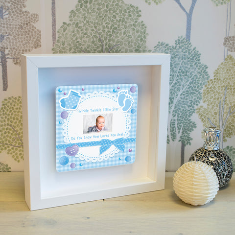 Shadow Frame with 3D Metal Artwork - Twinkle, Twinkle Little Star! | Gifts24-7.co.uk