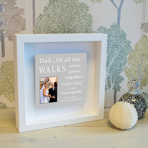 Shadow Frame with 3D Metal Artwork - Dad...Of all the Walks wall art | ShaneToddGifts.co.uk