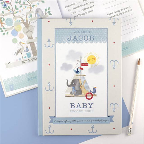 Personalised Baby Record Books - For a Boy | Gifts24-7.co.uk