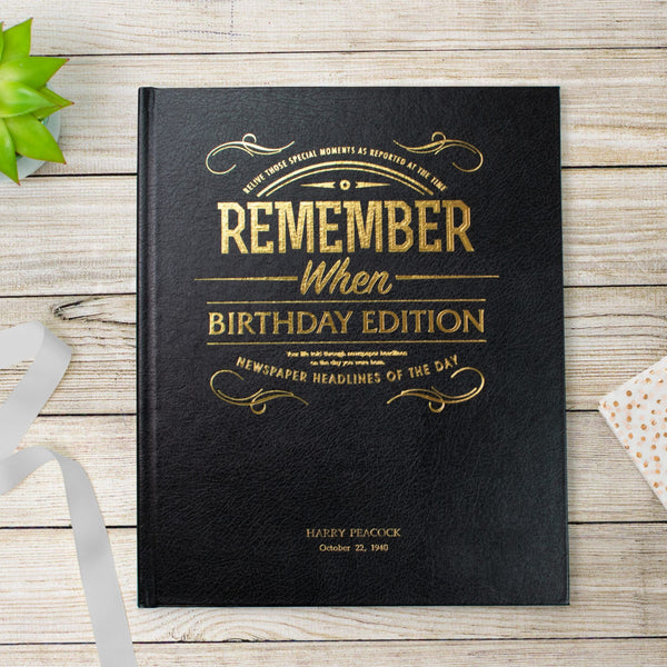 Birthday Edition Newspaper Book