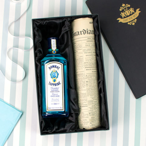 Bombay Sapphire Gin and Original Newspaper Gift Set