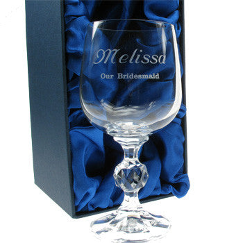 Personalised Wine Glass - Wedding Party