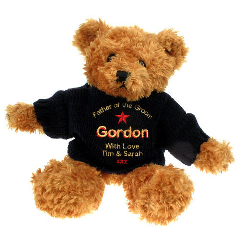 Personalised Brown Father of the Groom Teddy Bear - Shane Todd Gifts UK