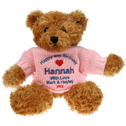 Personalised 18th Birthday Brown Teddy Bear - Shane Todd Gifts UK