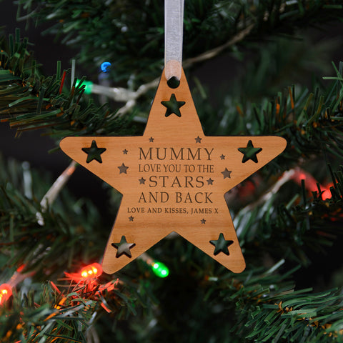 Wooden Hanging Decoration - LOVE YOU TO THE ... | Gifts24-7.co.uk