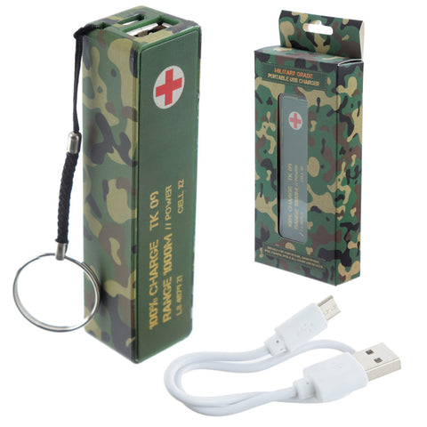 Handy Portable USB Power Bank - Camouflage Design | ShaneToddGifts.co.uk
