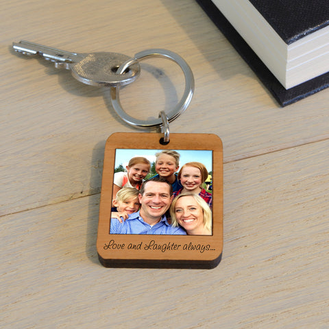 Wooden Key Ring - Personalised Polaroid | Gifts24-7.co.uk