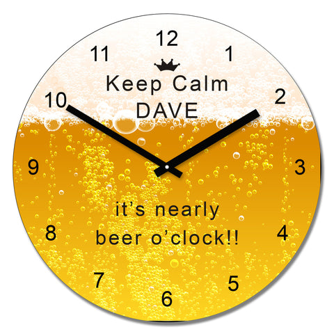 Beer design wall clock | Gifts24-7.co.uk