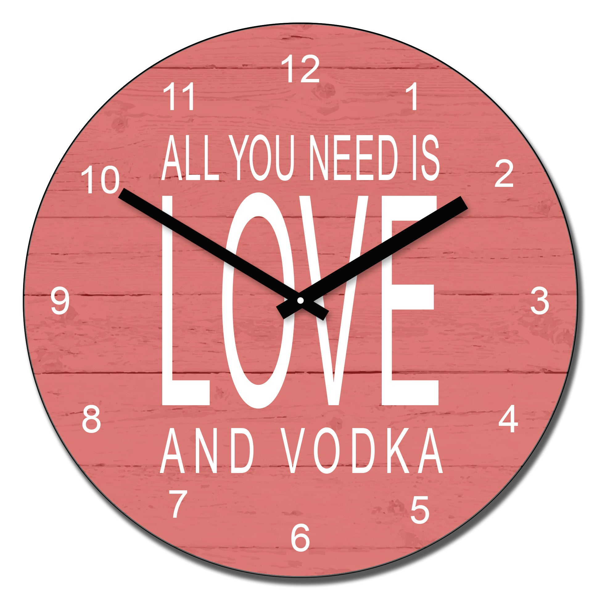 All you need is love and.....wall clock | Gifts24-7.co.uk