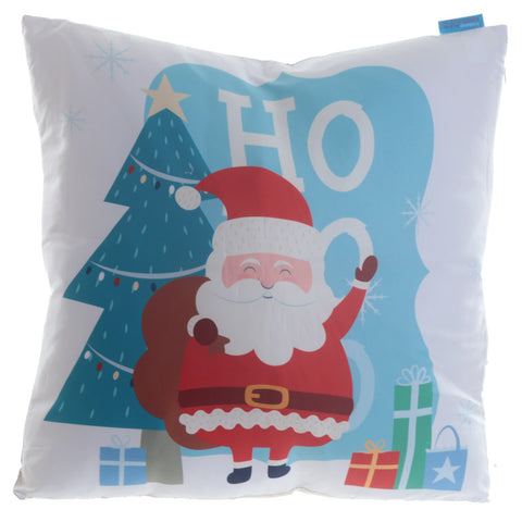 Fun Design Cushion with Insert - HO HO HO Christmas Santa