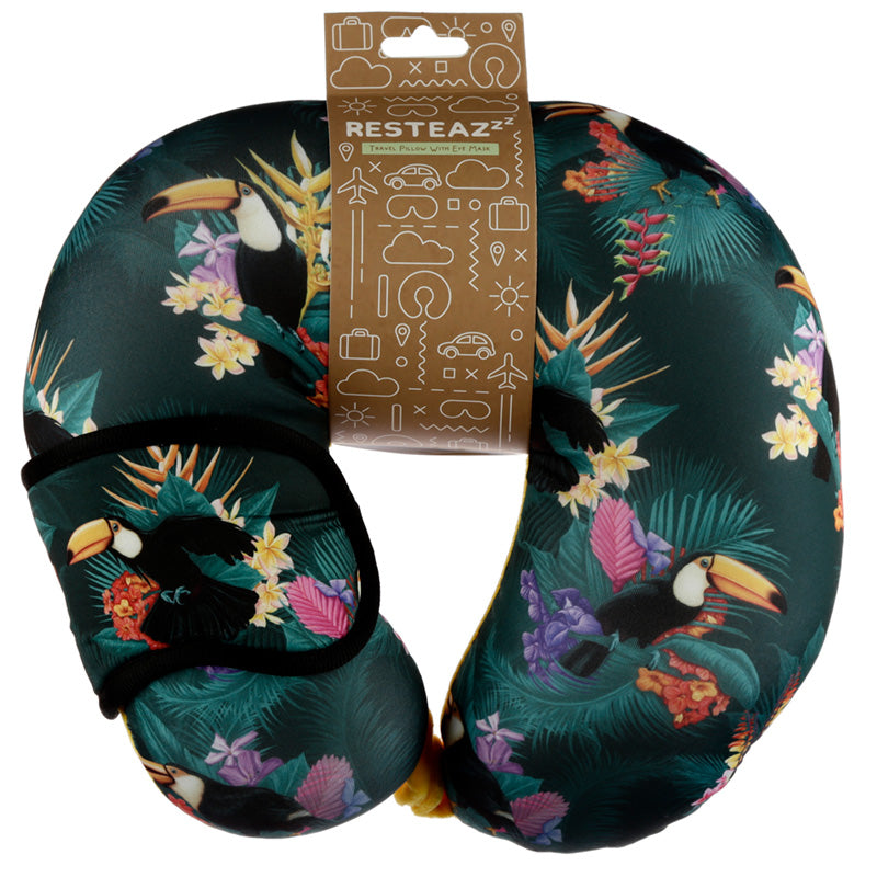 Toucan Party Relaxeazzz Travel Pillow & Eye Mask Set, Sleeping Aids by Low Cost Gifts