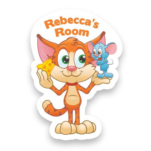 Cat and Mouse Doorplaque, Building Materials by Gifts24-7