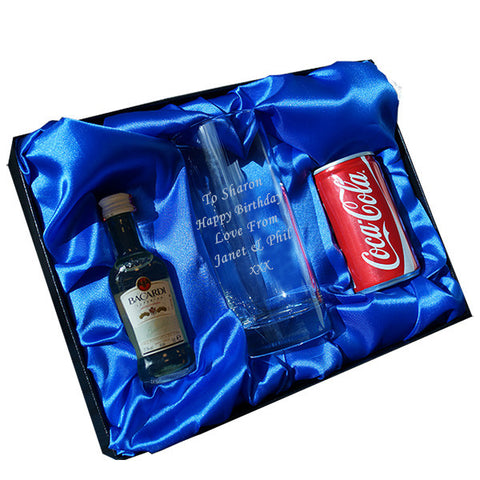 Bacardi & Coke/Diet Coke Hi-ball gift set - Shane Todd Gifts UK