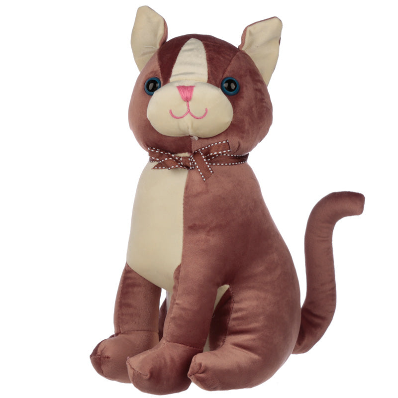 Interior Door Stop - Brown Cat with Ribbon, Building Materials by Gifts24-7