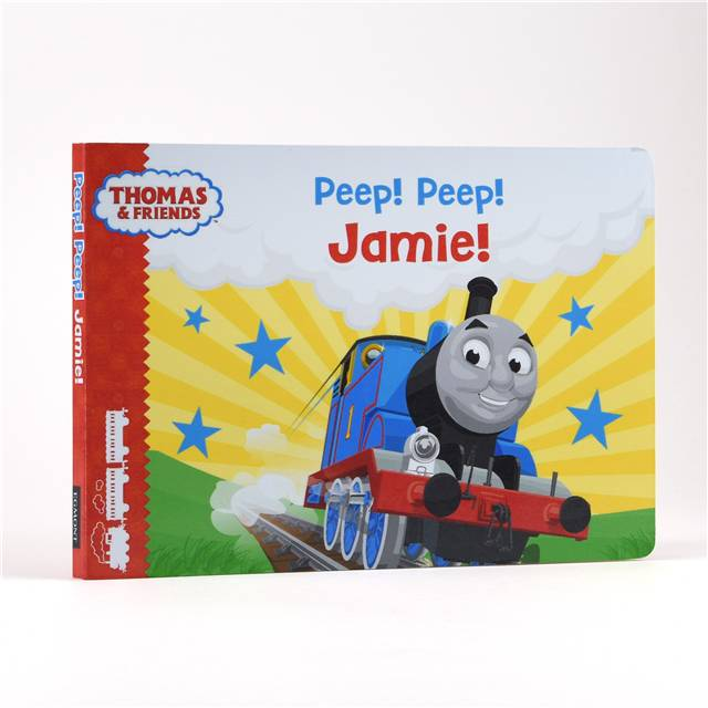 Personalised  Thomas and Friends: Peep Peep Book, Media by Low Cost Gifts