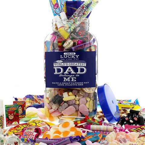 Dad's Retro Sweet Jar - Large | ShaneToddGifts.co.uk