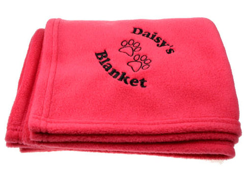 Personalised Luxury Pink Pet Blanket
