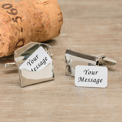 Envelope Cufflinks - Any Message