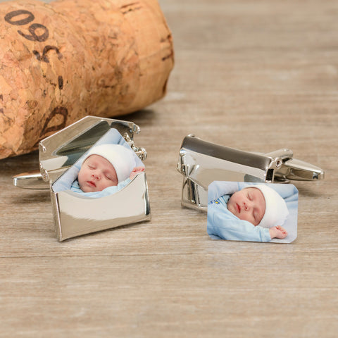 Envelope Cufflinks - Add Photos