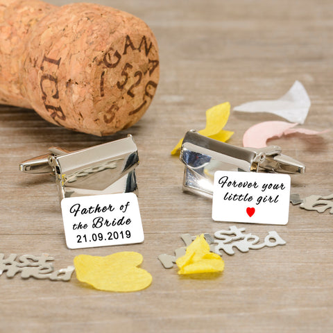 Personalised Envelope Cufflinks - Father of the Bride