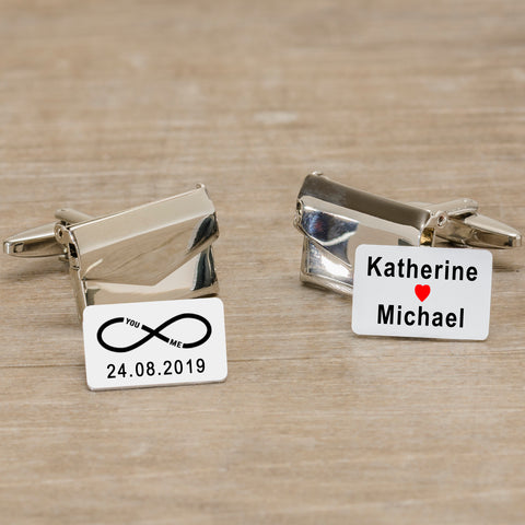 Personalised Envelope Cufflinks - You and Me