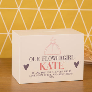 Personalised Our Flower Girl Money Box