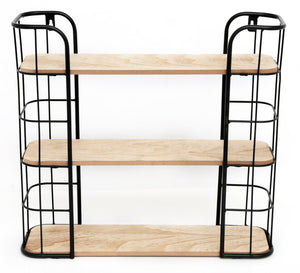 Wire Wooden Wall Shelf
